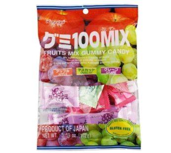 Kasugai, Gummy Fruit Mix (Apple, Grape, Muscat) 3.59oz