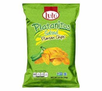Lulu, Plantain Chips Salted 2.5oz