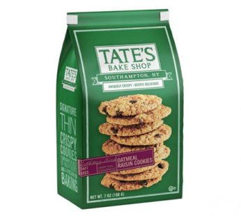 Tate, Cookies Oatmeal Raisin 7oz