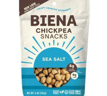 Biena, Chickpea Snack Sea Salt 5oz