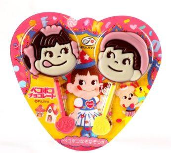 Fujiya, Peko Poko Heart Chocolate 0.84oz