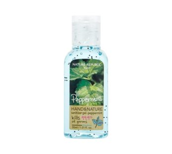 Hand And Nature Sanitizer Gel PEPPERMINT 30ml (1.01oz), NATURE REPUBLIC