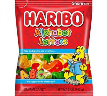 Haribo, Peg Bag Alphabet Letter 5oz