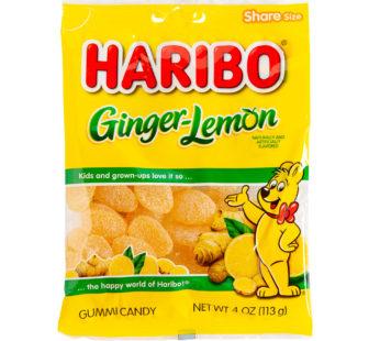 Haribo, Peg Bag Ginger Lemon 4oz