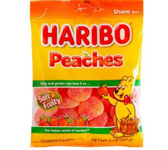Haribo, Peg Bag Peaches 5oz