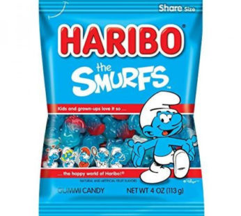 Haribo, Peg Bag Smurfs 4oz
