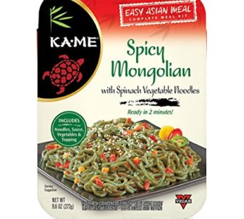 KA-ME Asian Meal Kits Noodles Spicy Mongolian, 9.6 oz