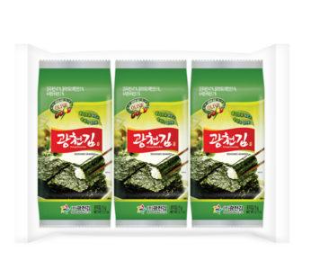 Kwangcheon, Roasted & Seasoned Laver (3pc) 0.51oz