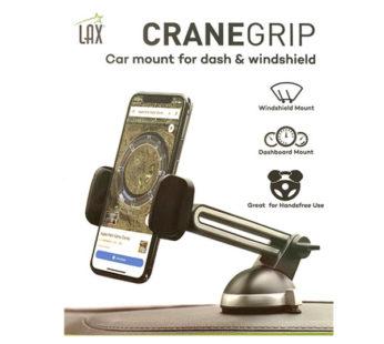 Lax, Cranegrip Car Mount for Dash & Windshield