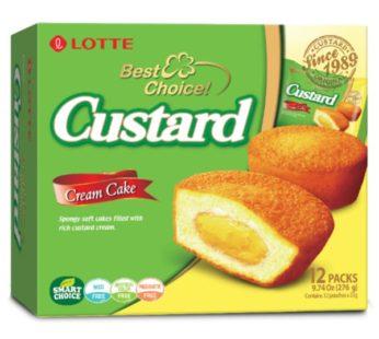 Lotte, Custard Cake 9.74oz