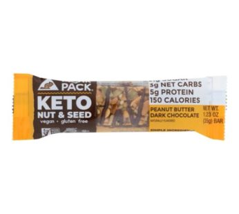Munkpack, KETO Nut & Seed Bar Peabut Butter
