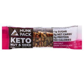 Munkpack, KETO Nut & Seed Bar Sea Salt Dark Chocolate