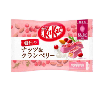 Nestle, KITKAT Nuts & Cranberry Ruby Choco Biscuit 3.07oz