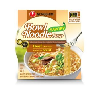 Nongshim, Bowl Noodle Savory Beef 3.03oz