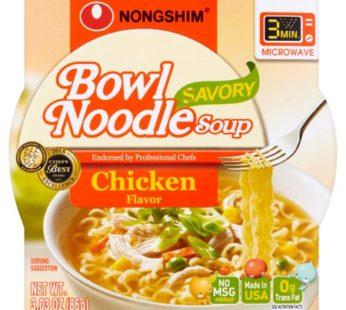 Nongshim, Bowl Noodle Savory Chicken 3.03oz