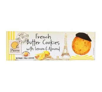 Pierre French Butter Cookies w/Lemon & Almond, 5.29 oz