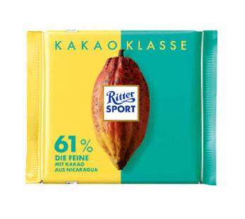Ritter Sports, Kakao Klasse 61% 3.52oz