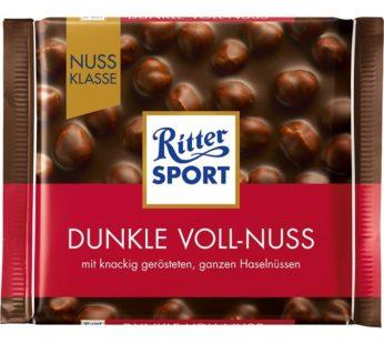 Ritter Sports, Dunkle Voll Nuss/Dark Whole Hazelnuts 3.52oz