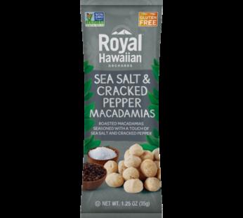 Royalhawaiianorchards, Sea Salt & Cracked Pepper Macadamias 1oz