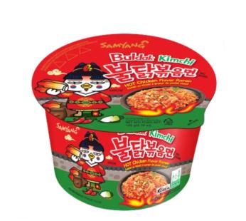 Samyang, Hot Chicken Ramen Big Bowl Kimchi 3.7oz