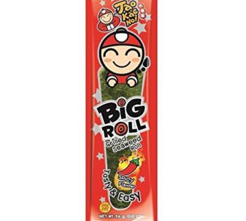 Taokaenoi, Big Roll Grilled Seaweed Roll Spicy Single Pack 0.95oz