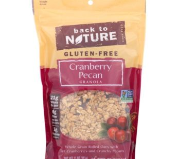 Back To Nature, Gluten Free Cranberry Pecan Granola 11oz