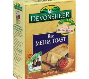 Devonsheer, Melba Toast Rye 5oz