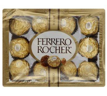 Ferrero, Rocher Fine Hazelnut Chocolate 12pack 5.3oz