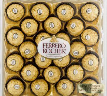 Ferrero, Rocher Fine Hazelnut Chocolate 24pack 10.6oz