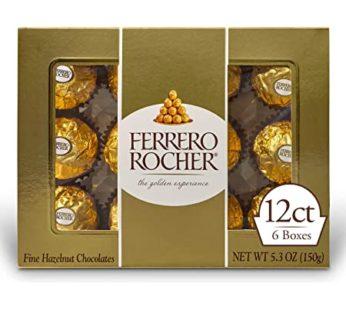 Ferrero Rocher, Fine Hazelnut Chocolates 12pieces 5.3oz