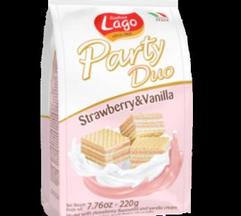 Lago, Party Duo Strawberry & Vanilla Wafer 7.76oz
