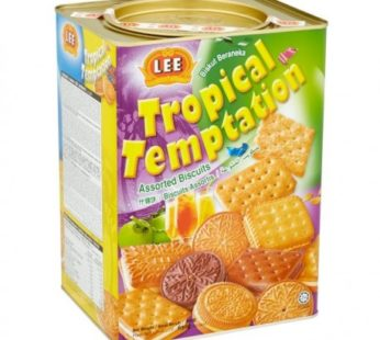Lee, Tropical Temptation Assorted Biscuits Can 22.22oz