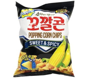 Lotte, Popping Corn Chips Snack Sweet & Spicy 2.53oz