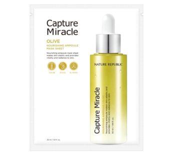 Nature Republic, Capture Miracle Olive Nourishing Ampoule Mask Sheet