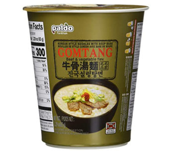 Paldo, Beef & Vegetable Cup Noodle Soup Gomtang Cup 2.29oz