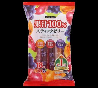 Ribon, Kajyu 100% Stick Jelly 110g 18pc 9.5oz (12)