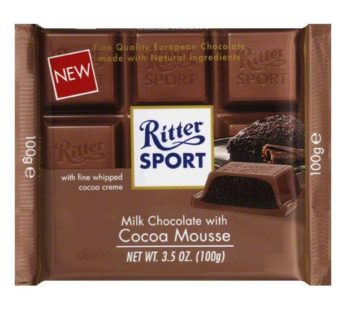 Ritter Sport, Cocoa Mousse Filling 3.5oz