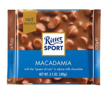 Ritter Sport, Milk Chocolate with Macadamia 3.5oz