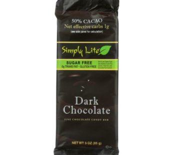Simply Lite, Low Carb & No Sugar Chocolate Dark 3oz
