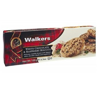 Walkers, White Chocolate & Raspberry Biscuits 5.3oz