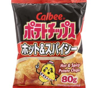 Calbee, Hot & Spicy Potato Chips Mega 7oz (12)