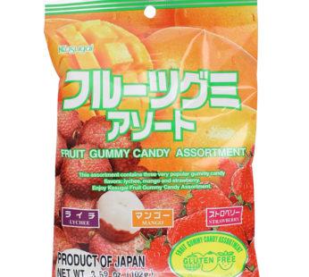 Kasugai, Gummy Assortment (Lychee, Mango, Strawberry) 3.59oz