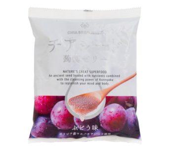 Wakasho, Chia Seed konnyaku Jelly Grape 6.1oz (6×12)