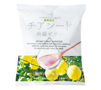 Wakasho, Chia Seed konnyaku Jelly Lemon 6.1oz (6×12)
