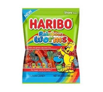 Haribo, Peg Bag Rainbow Worms 5oz