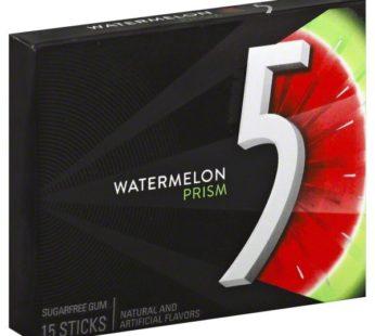 Wrigley Five 15 Stick Sugar Free Prism Watermelon 1.43oz