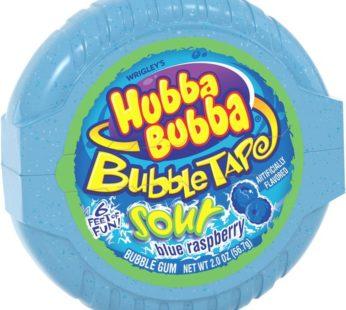 Wrigley Hubba Bubba Bubble Tape 2-6 ct Sour Blue Raspberry 2oz