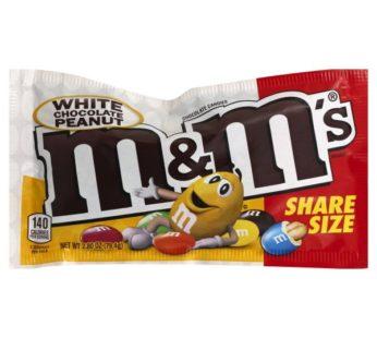 M&M Mars, King Size M&M's White Chocolate Peanut 2.8oz