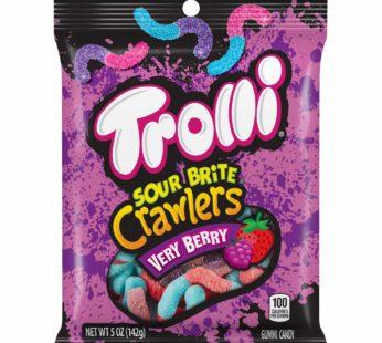 Trolli, Sour Brite Peg Very Berry Crawlers 5oz