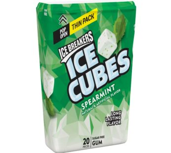 Ice Breakers Ice Cubes Spearmint Gum Thin Pack 1.62oz